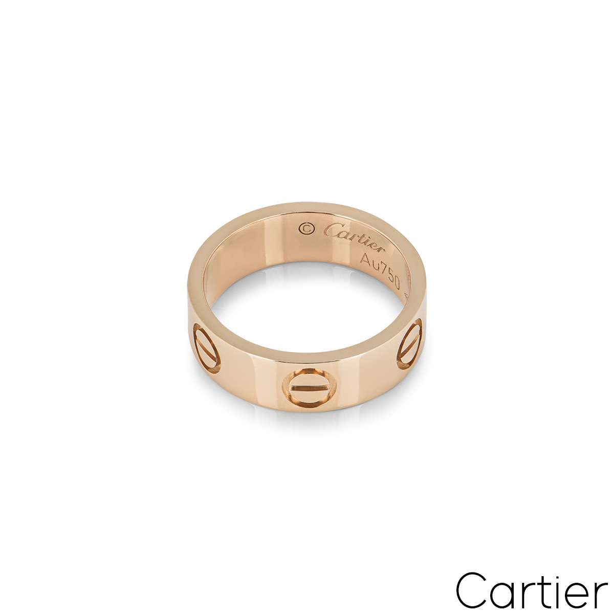 Cartier Rose Gold Plain Love Ring Size 47 B4084800
